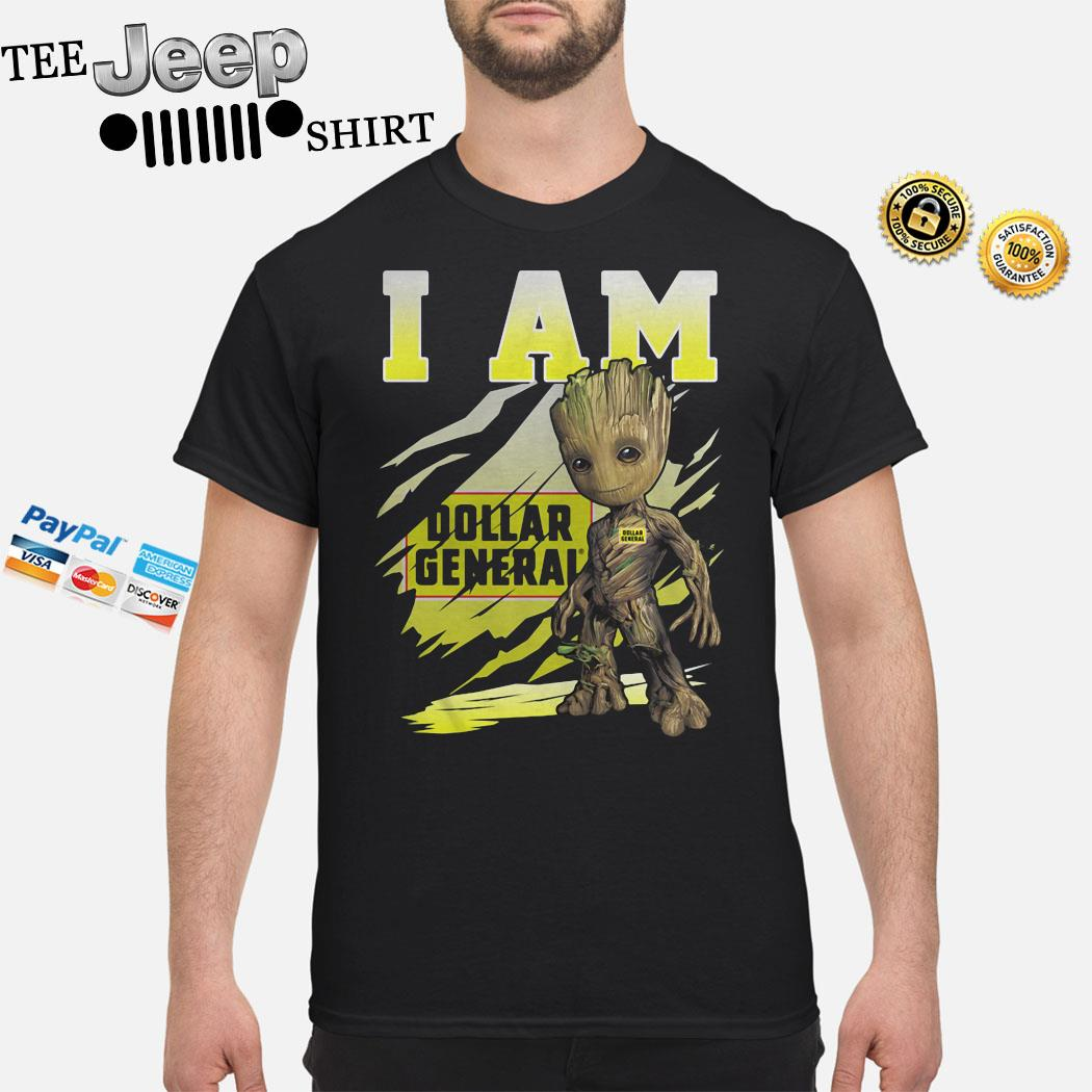 Baby Groot I Am Dollar General Shirt