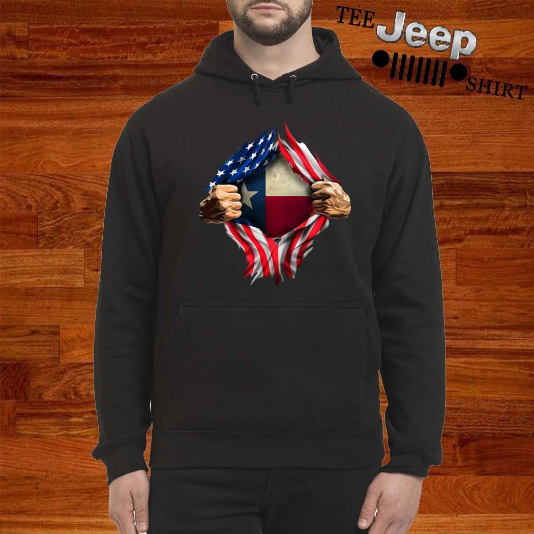 American Flag Texas Proud Inside Me Shirt hoodie