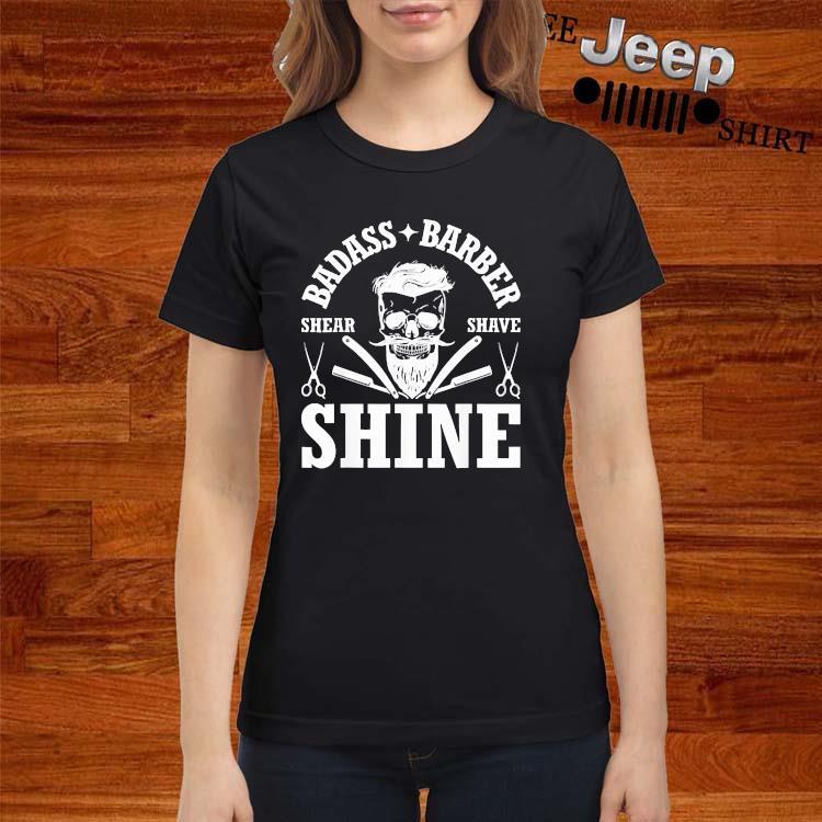 Barber Share Shave Shine Barber Shirt ladies-shirt