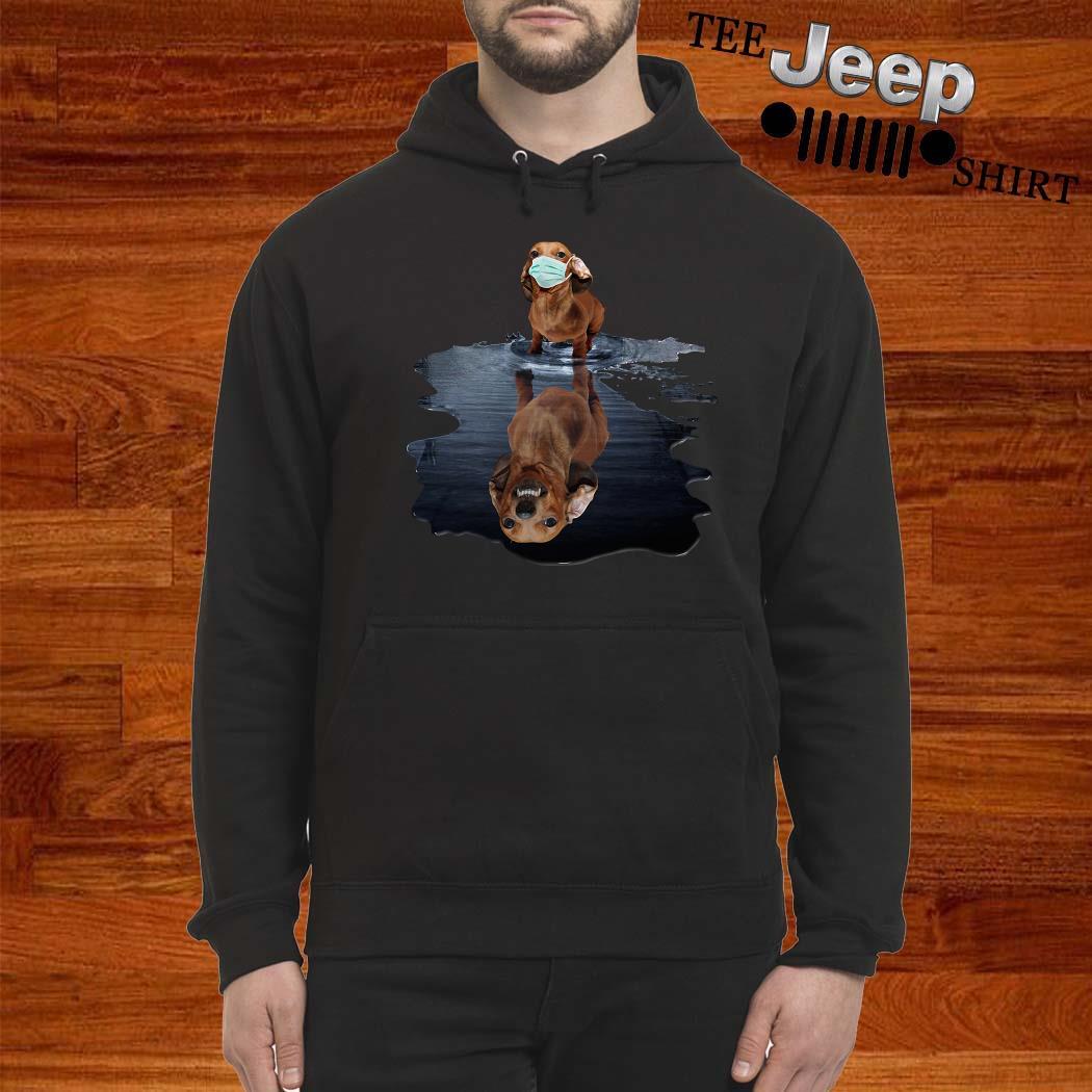 Dachshund Face Mask Water Reflection Dachshund Shirt hoodie