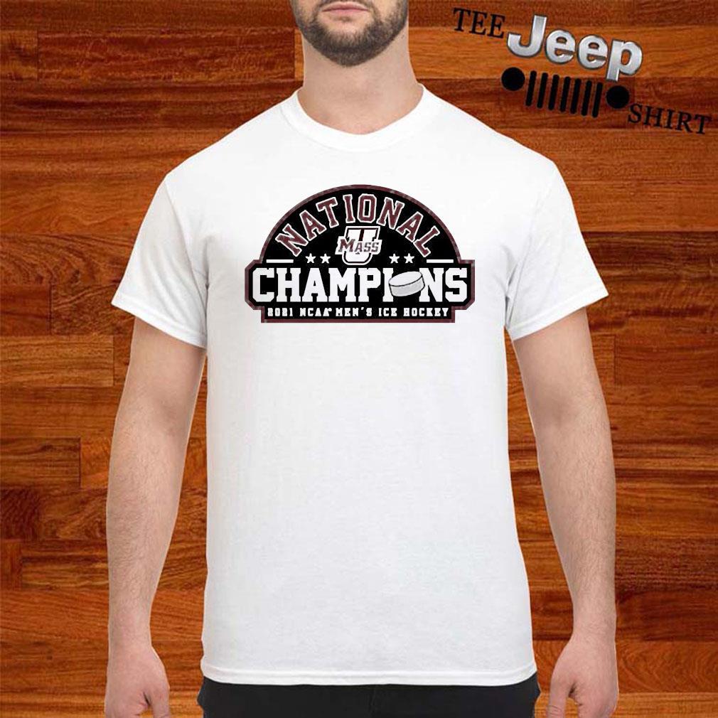 National Champions 2021 Umass Minutemen Ncaa Mens Ice Hockey Shirt
