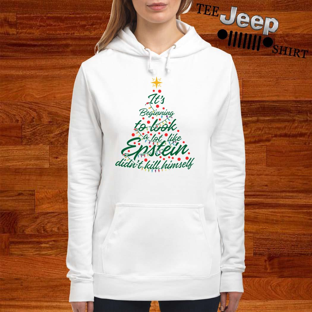 It's Beginning To Look A Lot Like Epstein Didn't Kill Himself Christmas Tree Hoodie