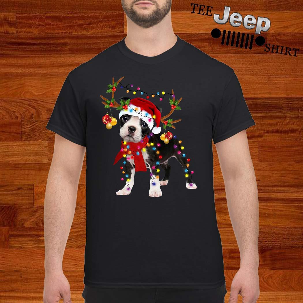 Boston Terrier Gorgeous Reindeer Christmas Shirt