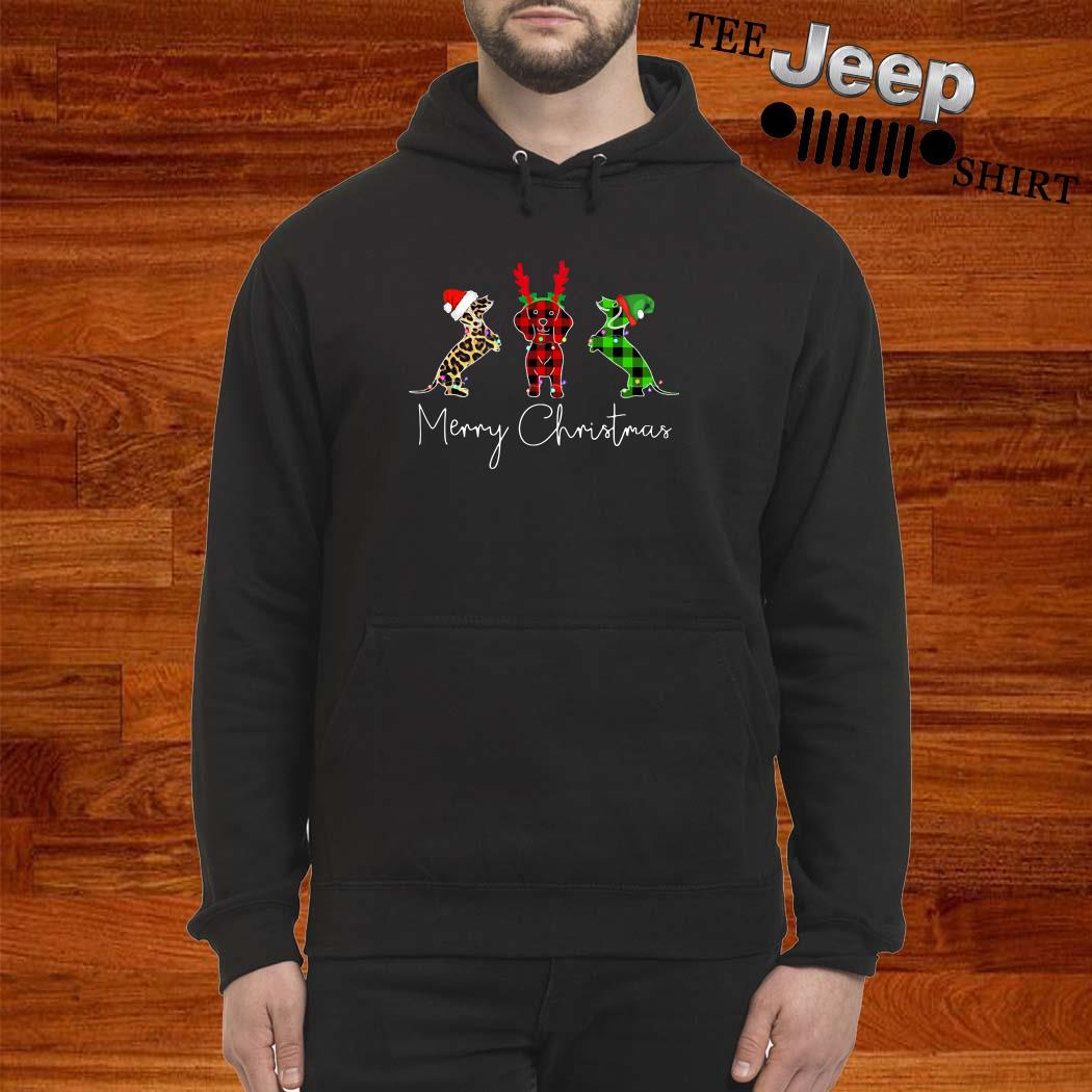 Dachshunds Merry Christmas Hoodie