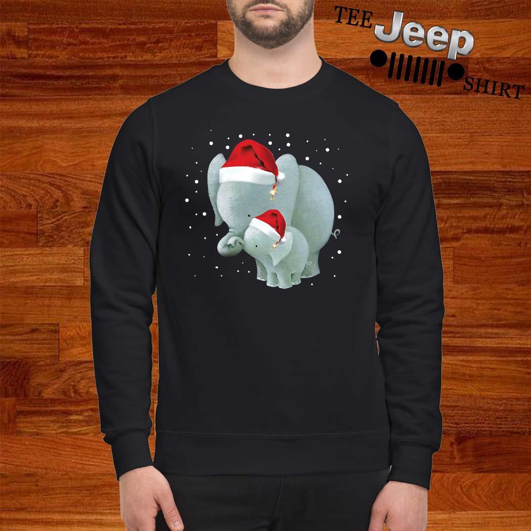 Elephants Mom And Baby Christmas Sweatshirt