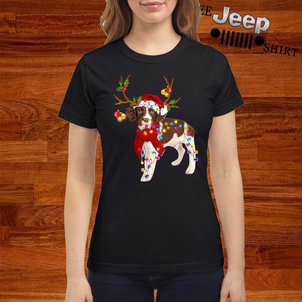 English Springer Spaniel Gorgeous Reindeer Ladies Shirt