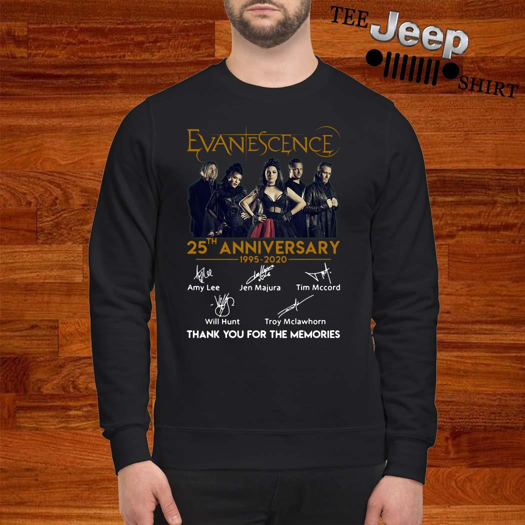 Evanescence 25th Anniversary 1995-2020 Thank You For The Memories Sweatshirt