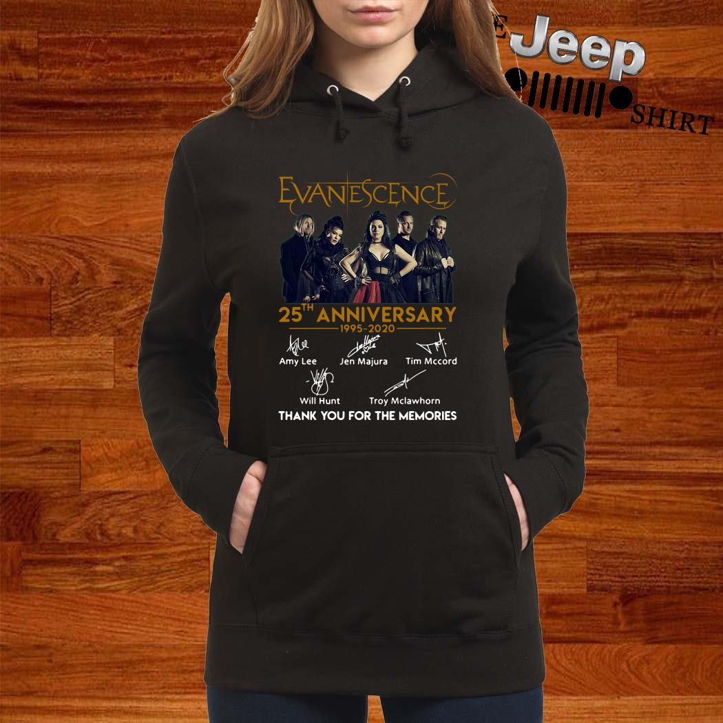 Evanescence 25th Anniversary 1995-2020 Thank You For The Memories Hoodie