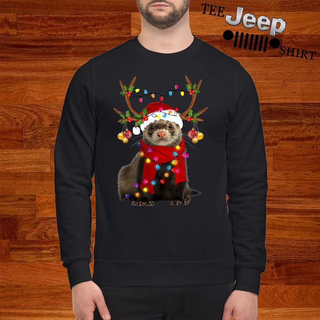 Ferret Gorgeous Reindeer Christmas Sweatshirt