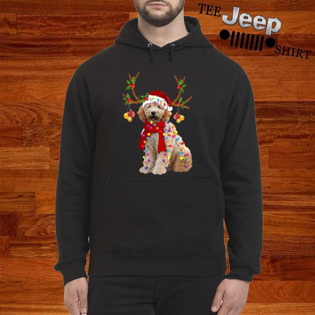 Goldendoodle Gorgeous Reindeer Christmas Hoodie