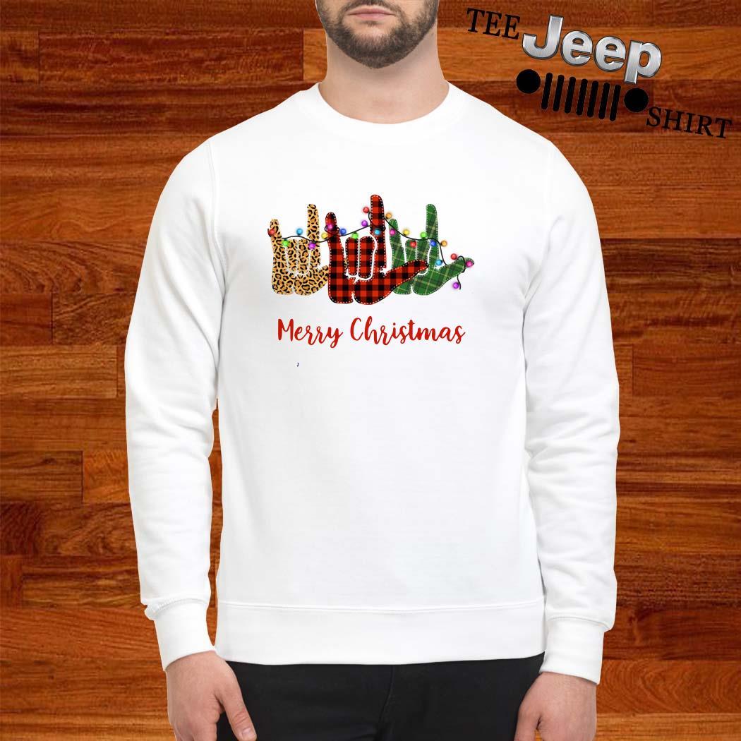 Hand I Love You Merry Christmas Sweatshirt