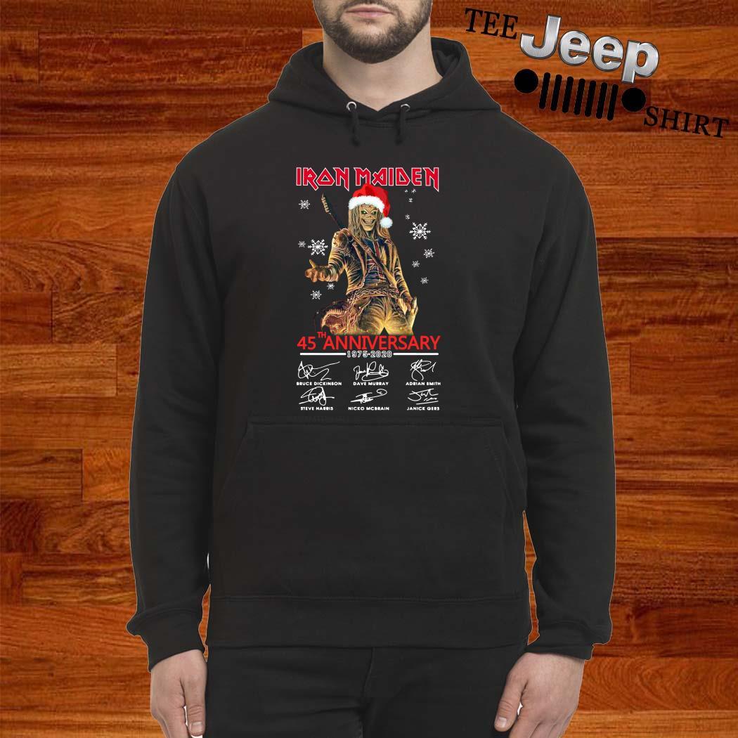 Iron Maiden Santa 45th Anniversary 1975-2020 Signatures Hoodie
