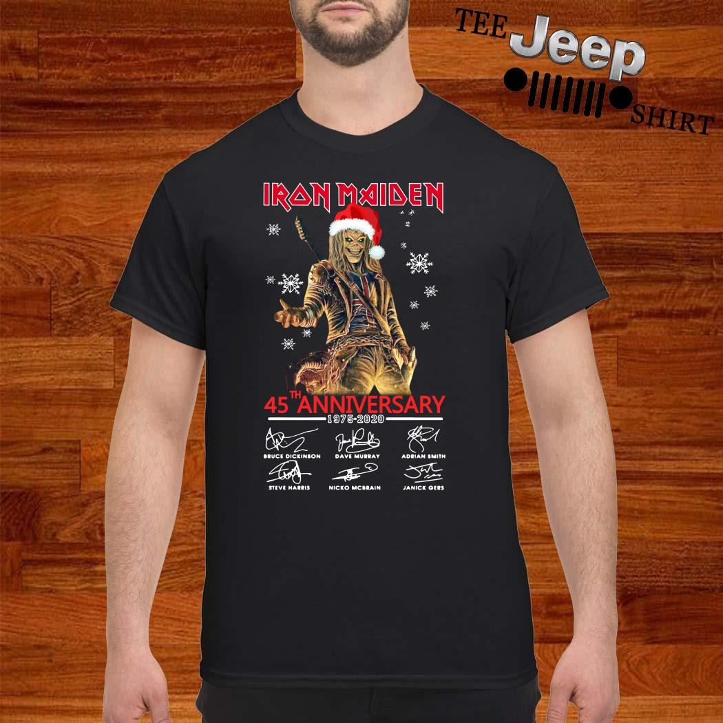 Iron Maiden Santa 45th Anniversary 1975-2020 Signatures Shirt