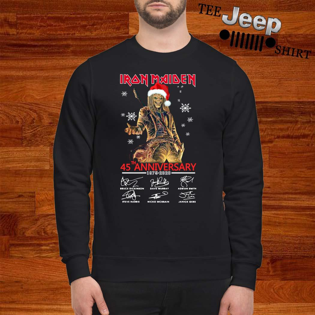 Iron Maiden Santa 45th Anniversary 1975-2020 Signatures Sweatshirt