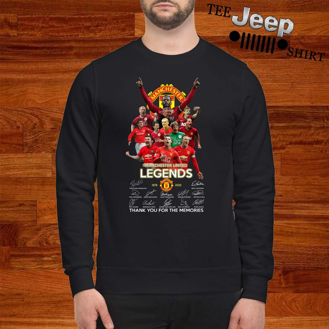 Manchester United Legend 1878-2020 Thank You For The Memories Signatures Sweatshirt