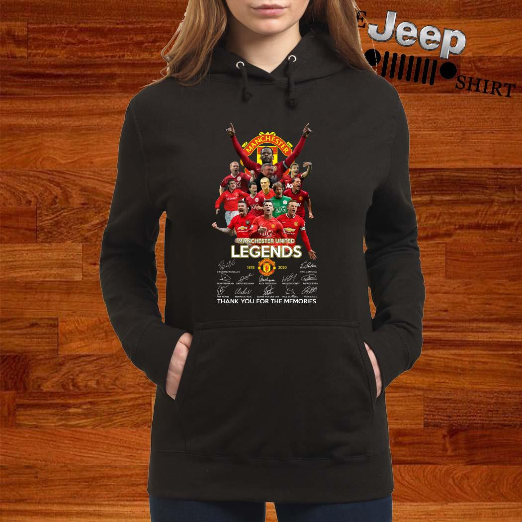 Manchester United Legend 1878-2020 Thank You For The Memories Signatures Hoodie
