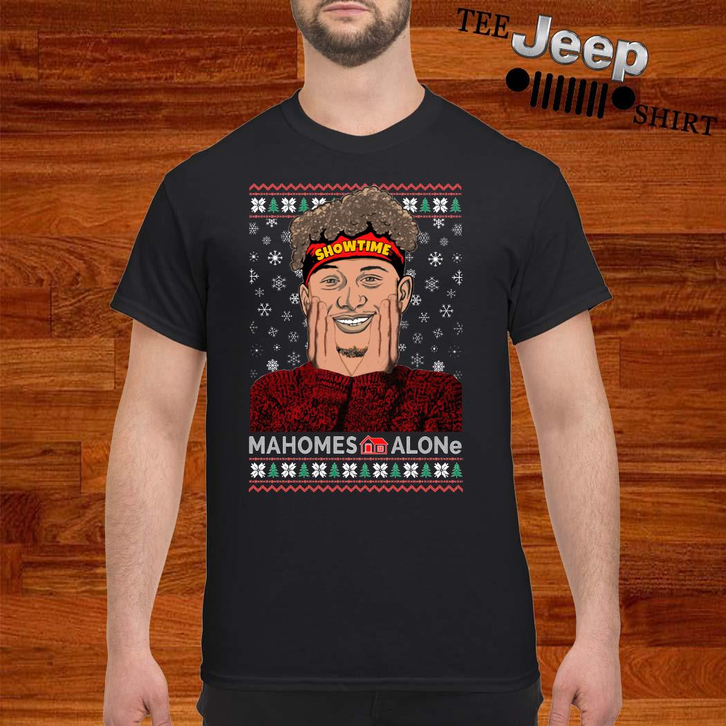 Patrick Mahomes Showtime Mahomes Alone Ugly Christmas Shirt