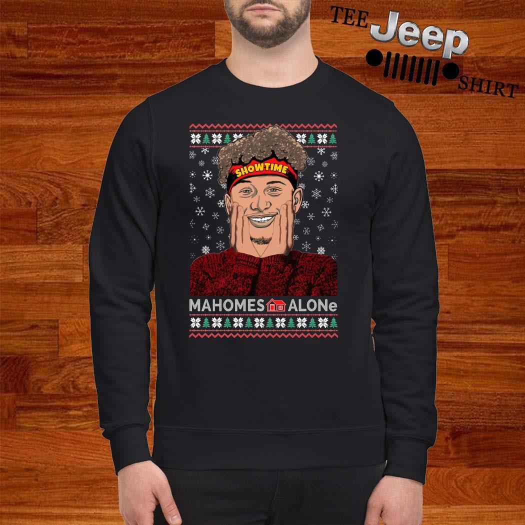 Patrick Mahomes Showtime Mahomes Alone Ugly Christmas Sweater
