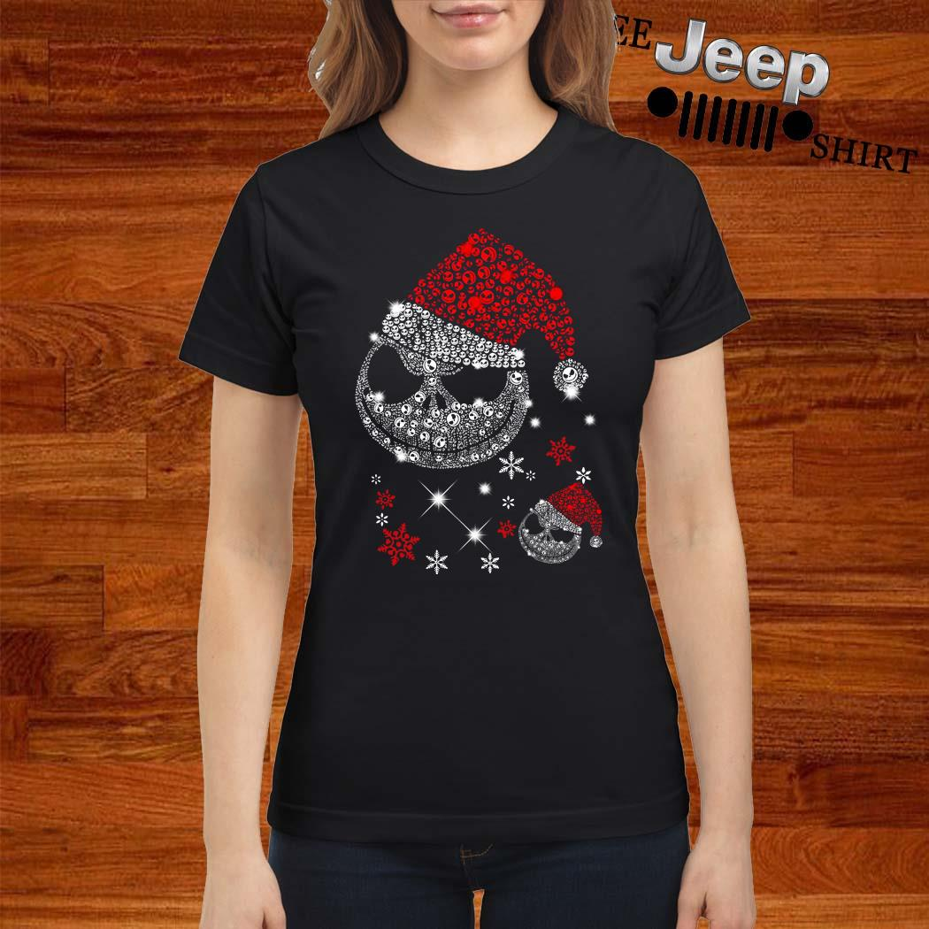 Santa Jack Skellington Diamond Ladies Shirt