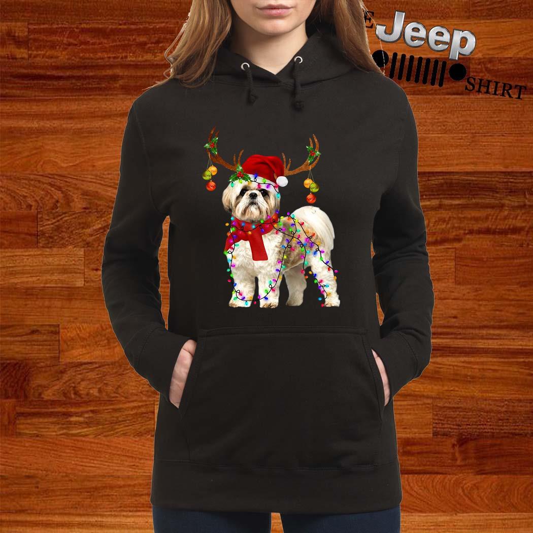 Shih Tzu Gorgeous Reindeer Christmas Hoodie