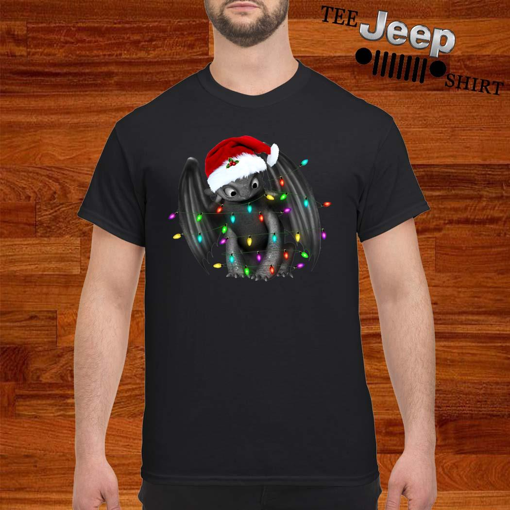Toothless Dragon Santa Christmas Light Shirt