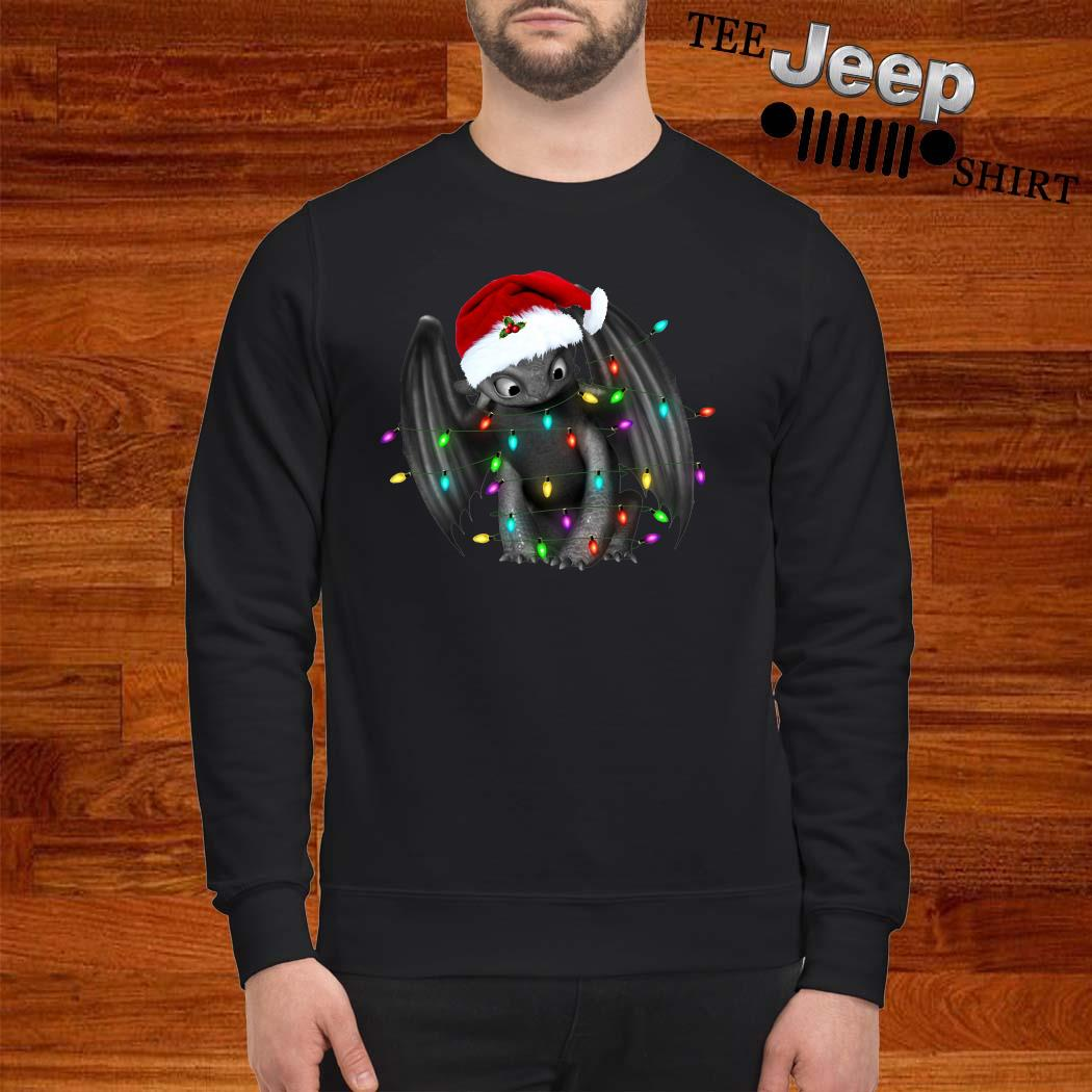 Toothless Dragon Santa Christmas Light Sweatshirt