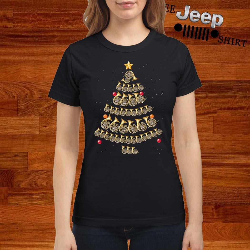 Trumpet Christmas Tree Ladies Shirt