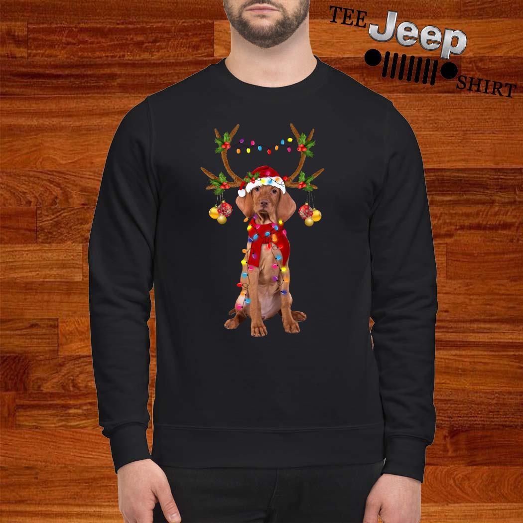 Vizsla Gorgeous Reindeer Christmas Sweatshirt