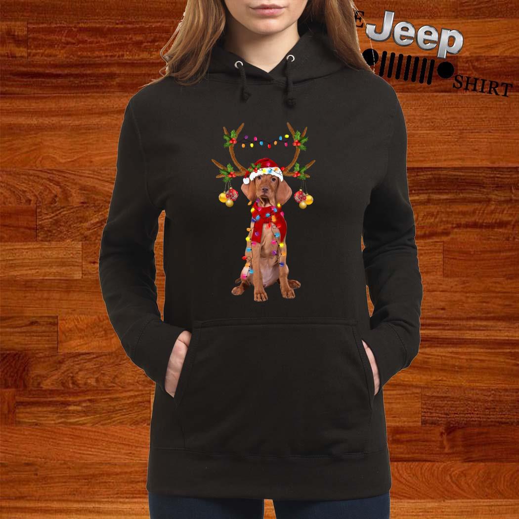 Vizsla Gorgeous Reindeer Christmas Hoodie