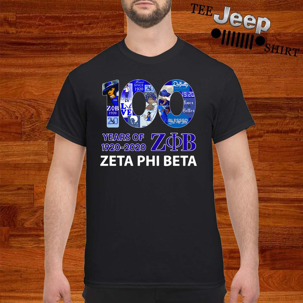 100 Years Of 1920-2020 ZOB Zeta Phi Beta Shirt