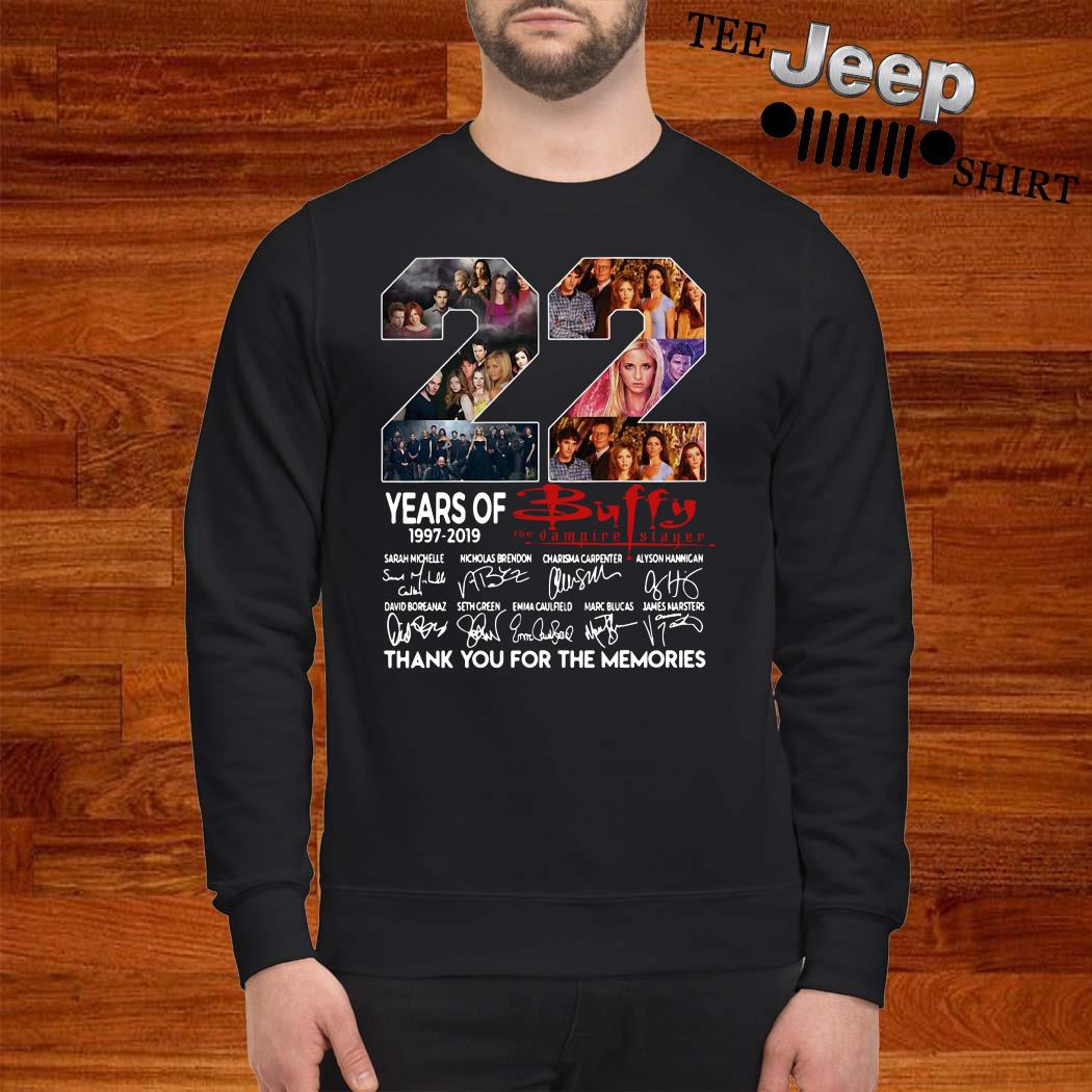 22 Years Of 1997-2019 Buffy The Vampire Slayer Thank You For The Memories Sweater