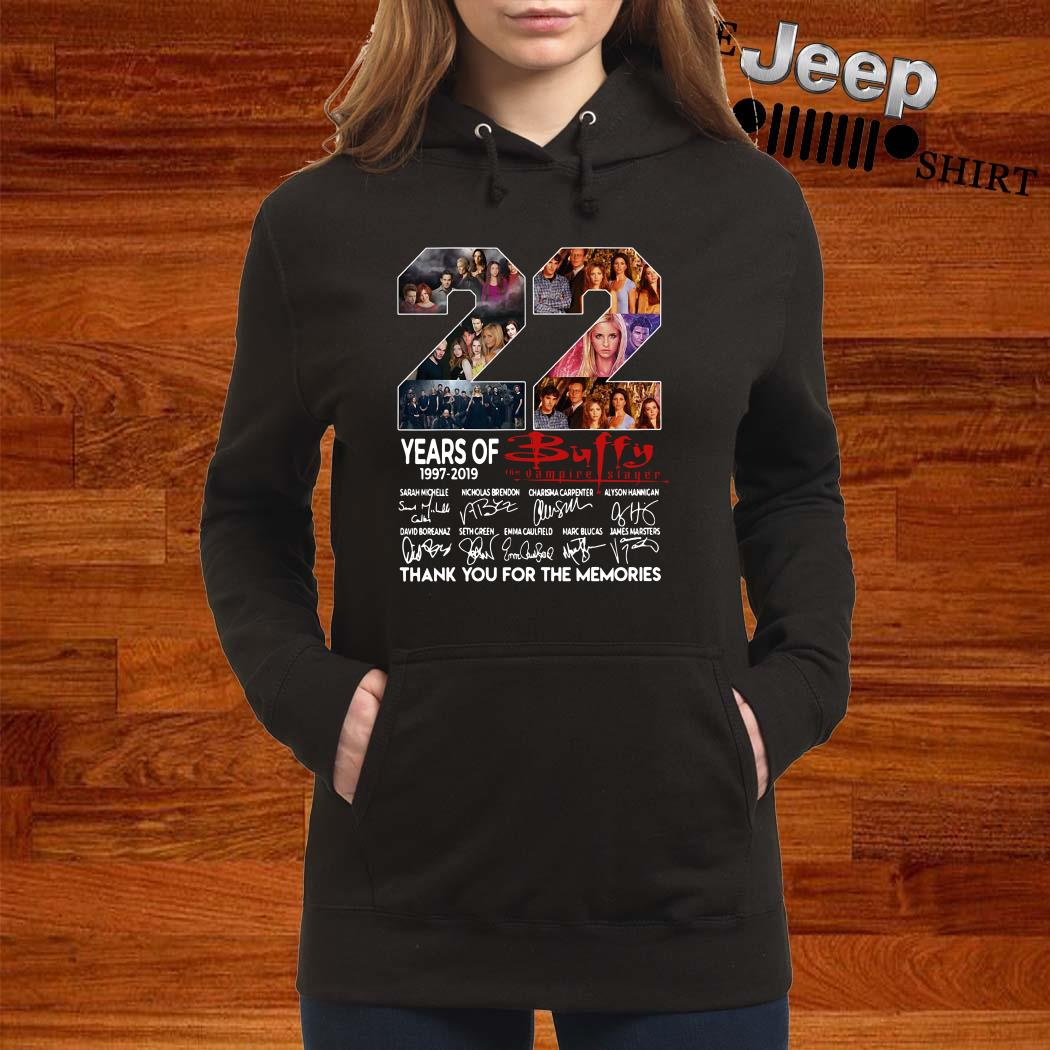 22 Years Of 1997-2019 Buffy The Vampire Slayer Thank You For The Memories Women Hoodie
