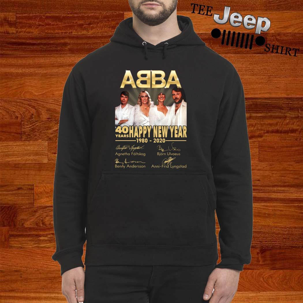 ABBA 40 Years Happy New Year 1980-2020 Signature Hoodie