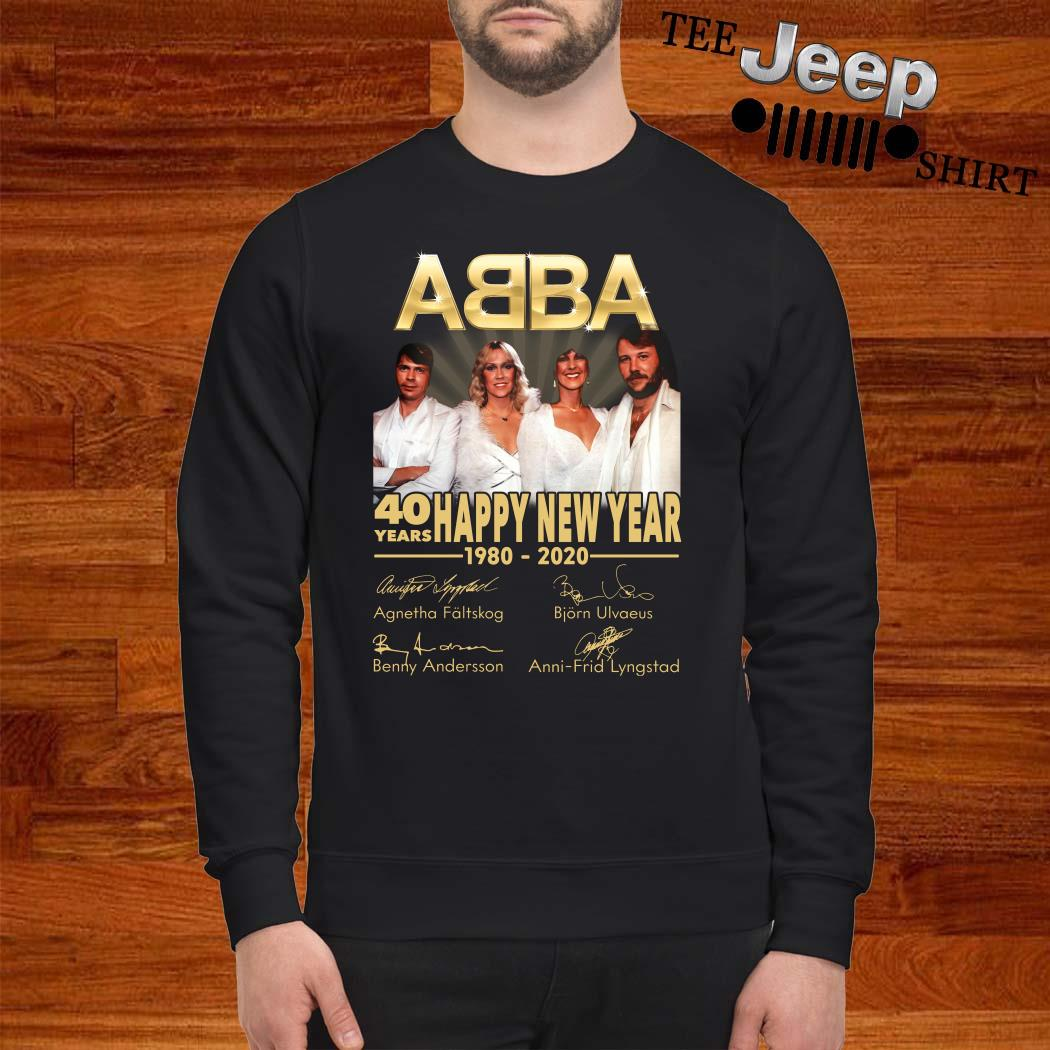 ABBA 40 Years Happy New Year 1980-2020 Signature Sweatshirt