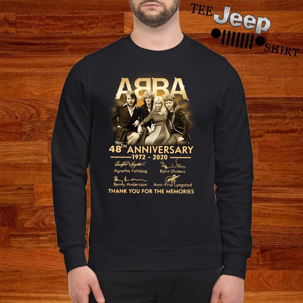 ABBA 48th Anniversary 1972 2020 Thank You For The Memories Sweatshirt