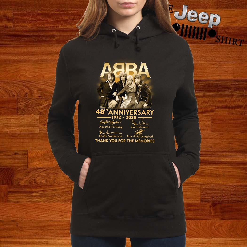ABBA 48th Anniversary 1972 2020 Thank You For The Memories Hoodie