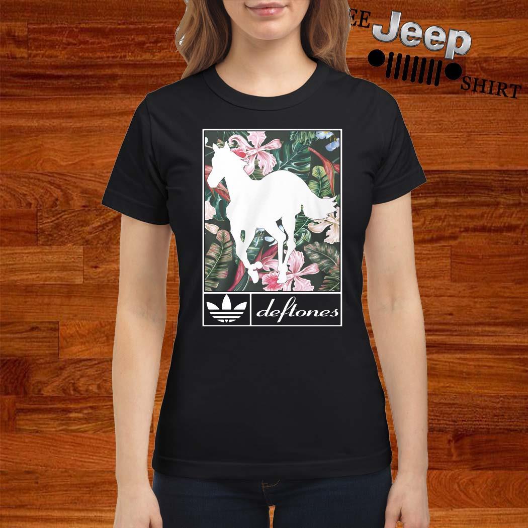 Adidas Deftones Horse Flowers Ladies Shirt