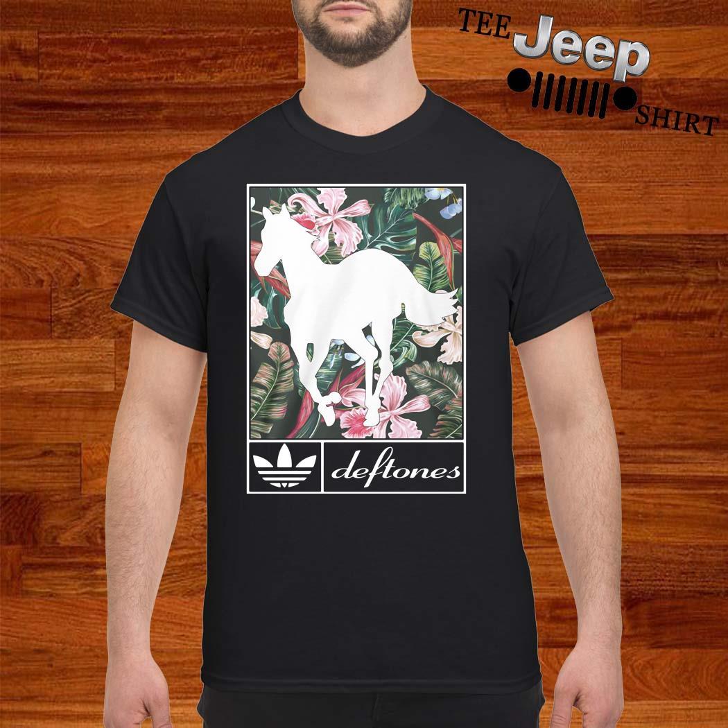 Adidas Deftones Horse Flowers Shirt