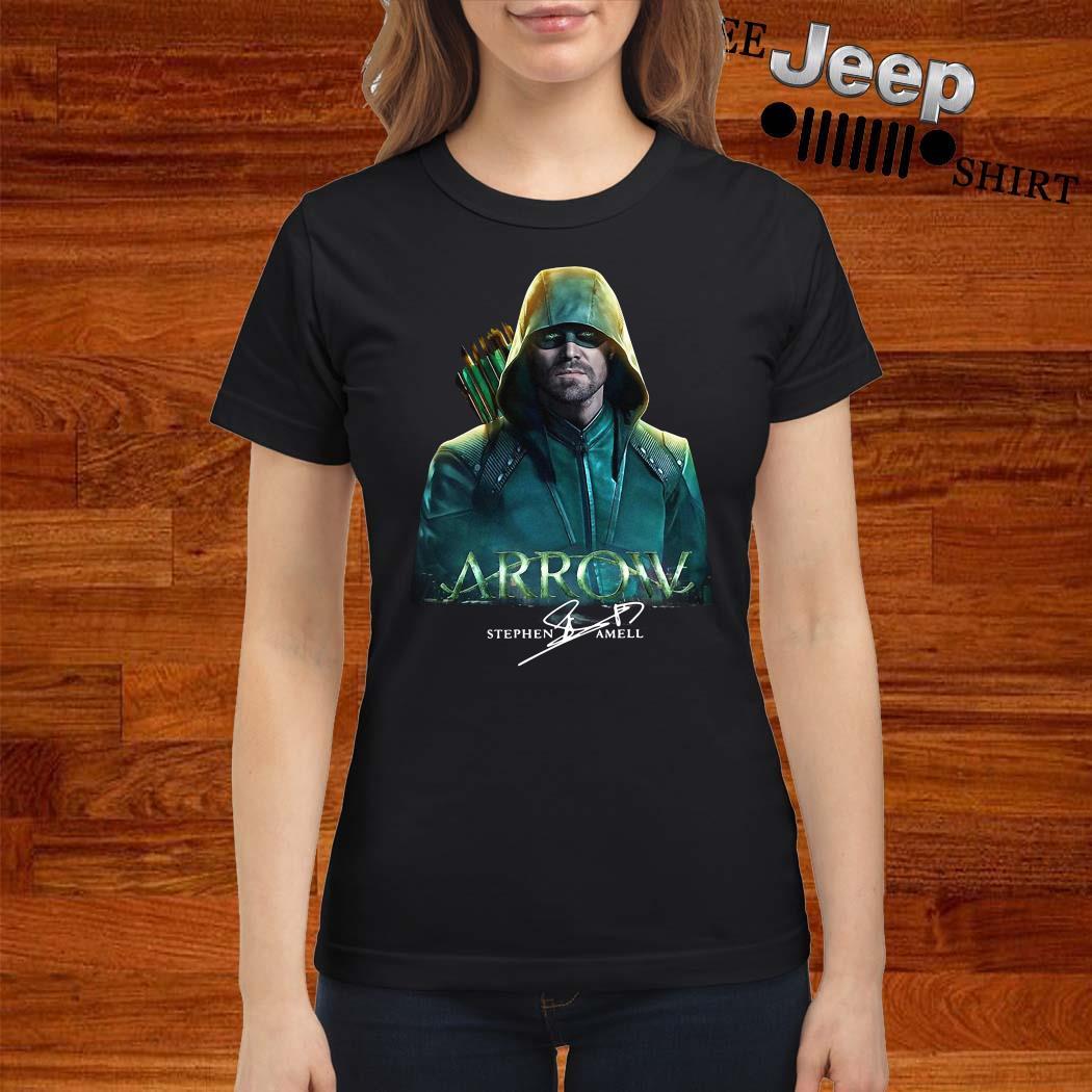 Arrow Stephen Amell Signature Ladies Shirt