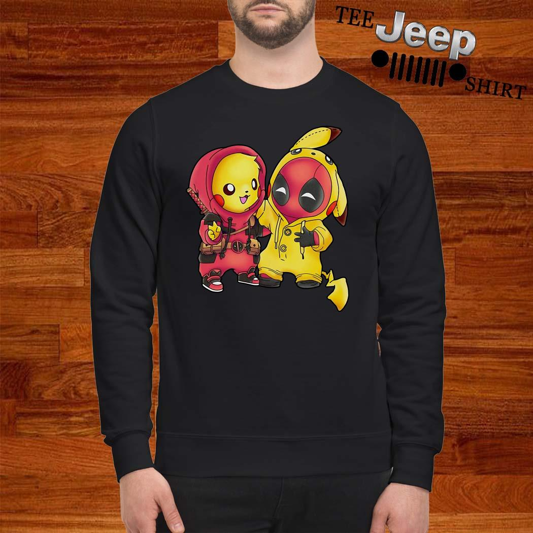 Baby Deadpool And Baby Pikachu Sweatshirt