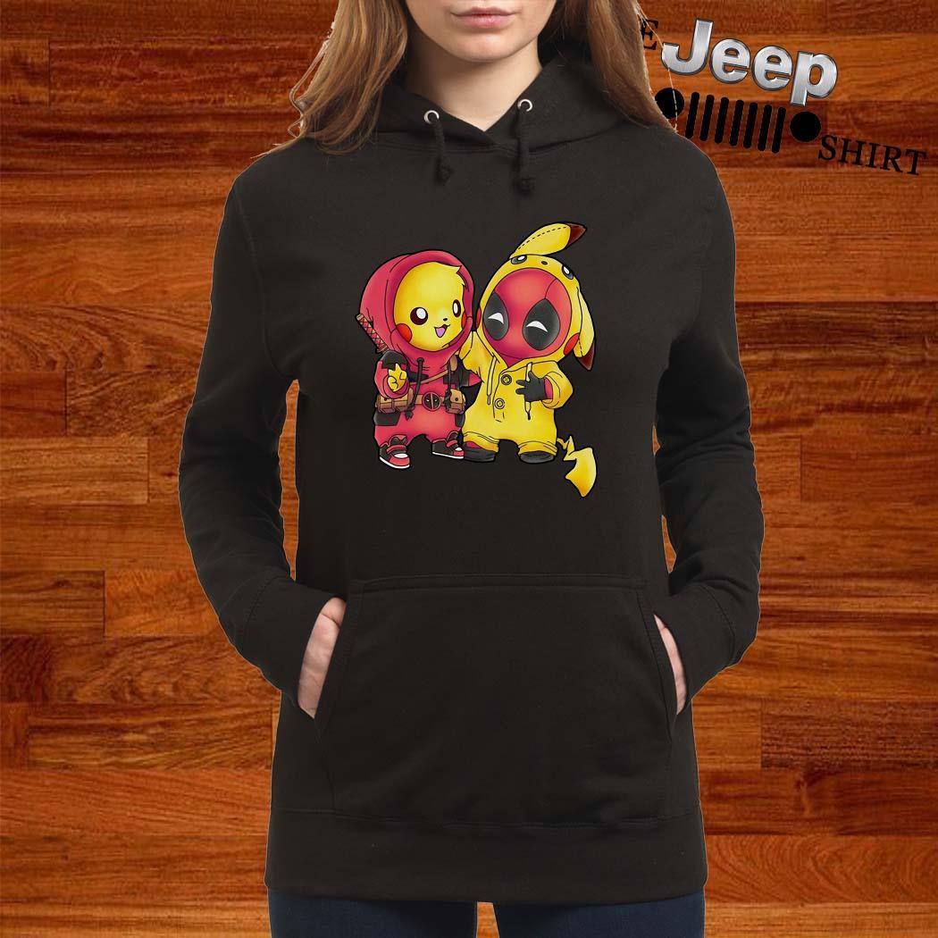 Baby Deadpool And Baby Pikachu Hoodie