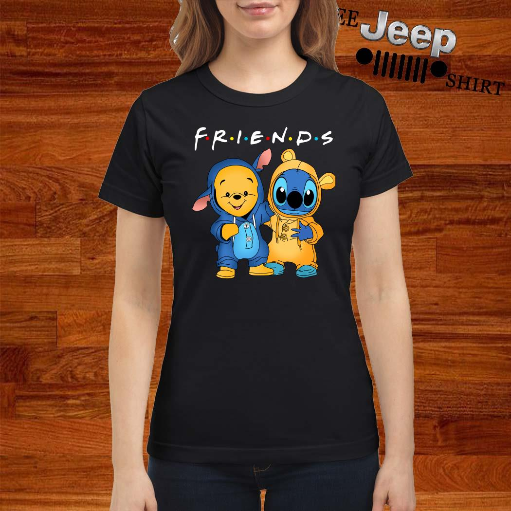 Baby Pooh And Baby Stitch Friends Ladies Shirt
