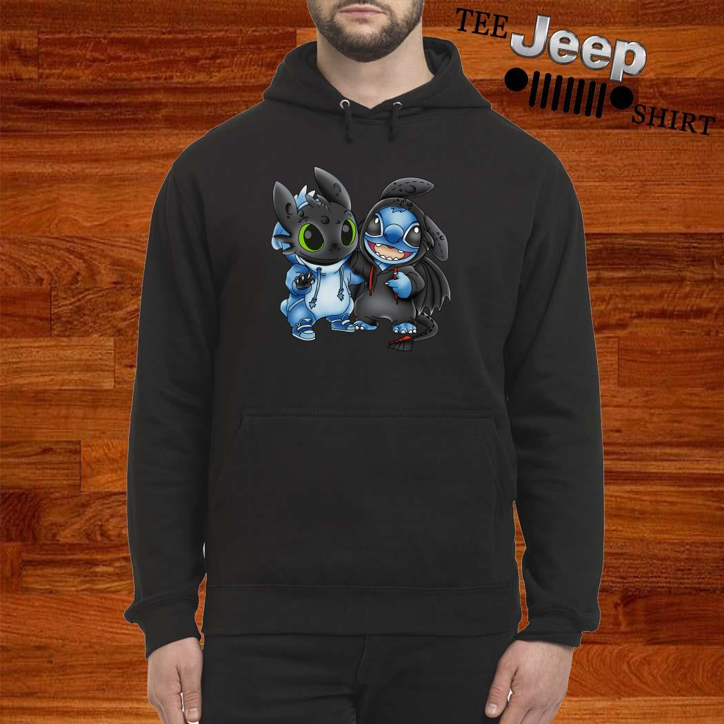 Baby Toothless And Baby Stitch Hoodie