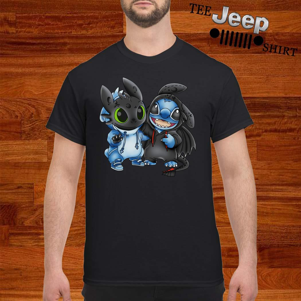 Baby Toothless And Baby Stitch Shirt