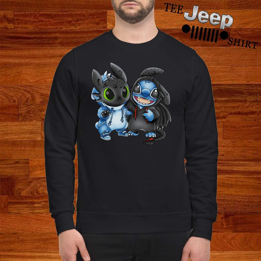 Baby Toothless And Baby Stitch Sweatshirt