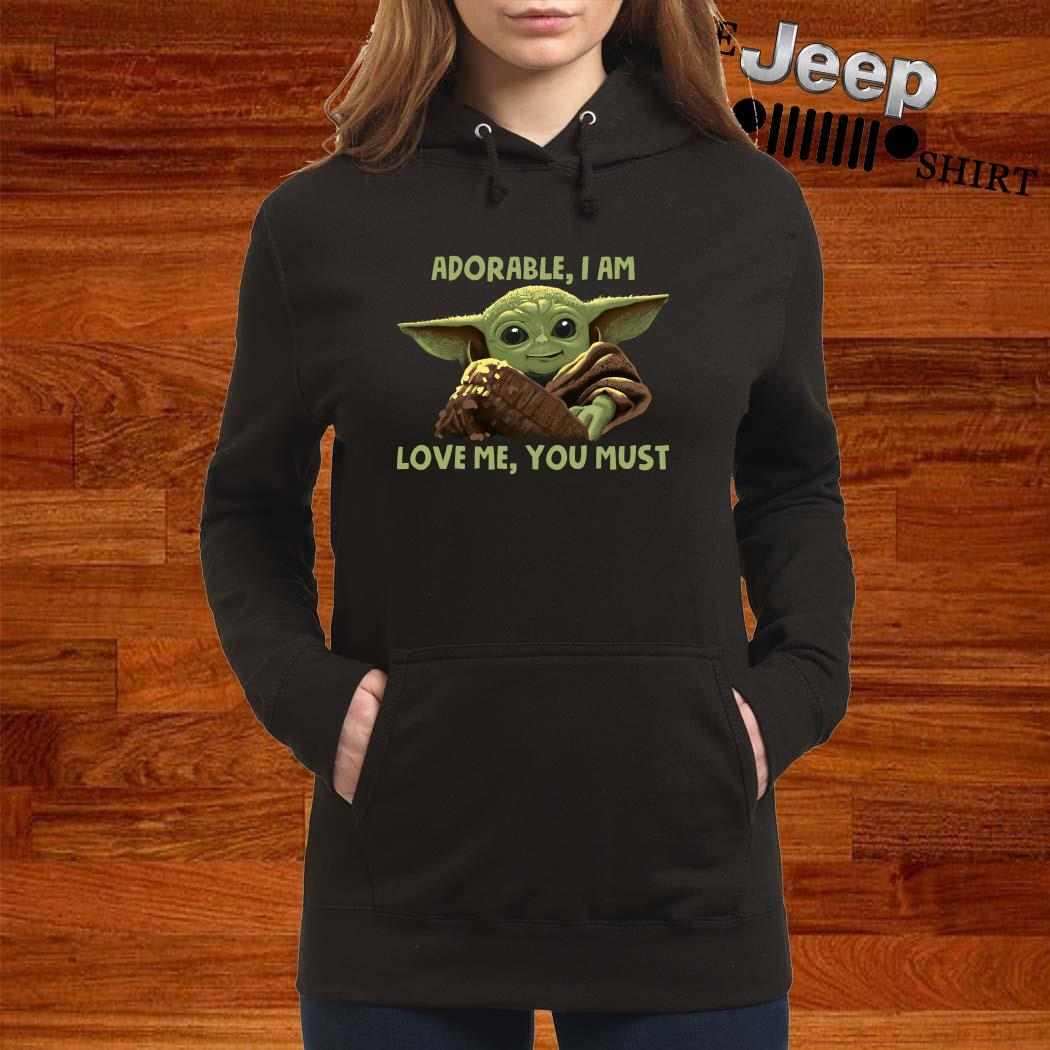 Baby Yoda Adorable I Am Love Me You Must Hoodie