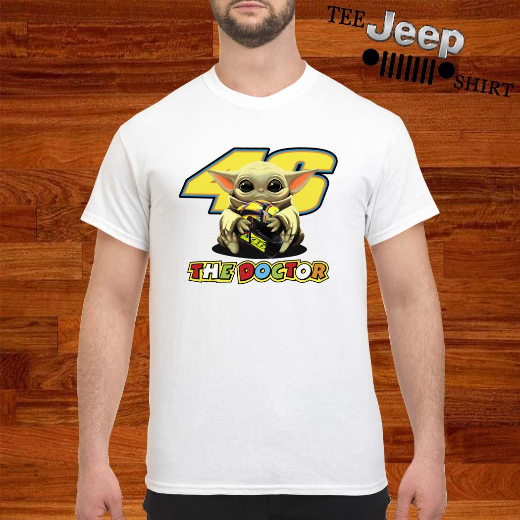 Baby Yoda Hug 46 The Doctor Shirt