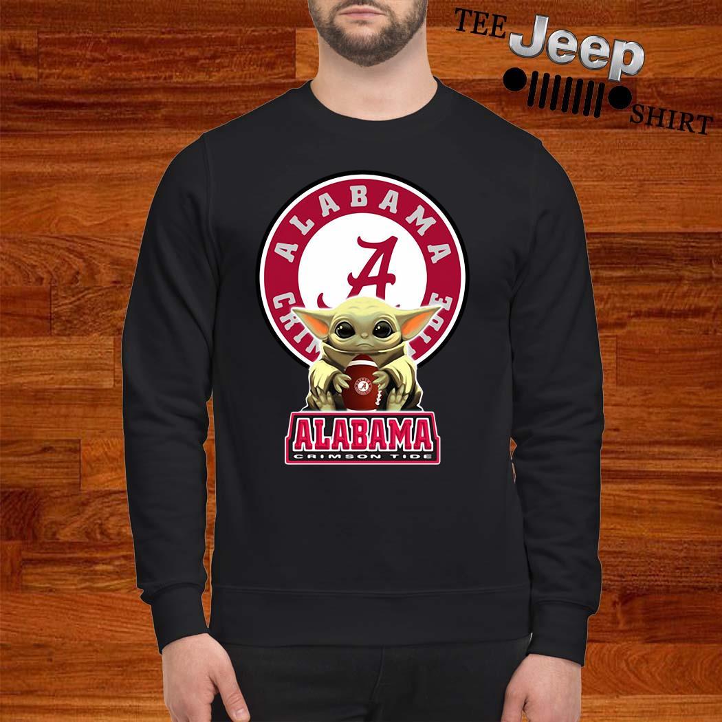 Baby Yoda Hug Alabama Crimson Tide Sweatshirt