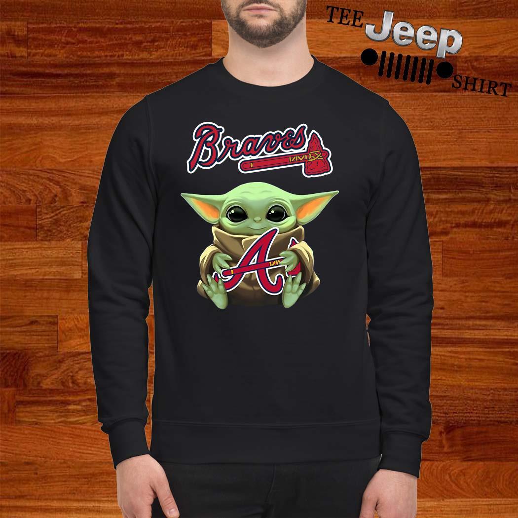Baby Yoda Hug Atlanta Braves Sweatshirt