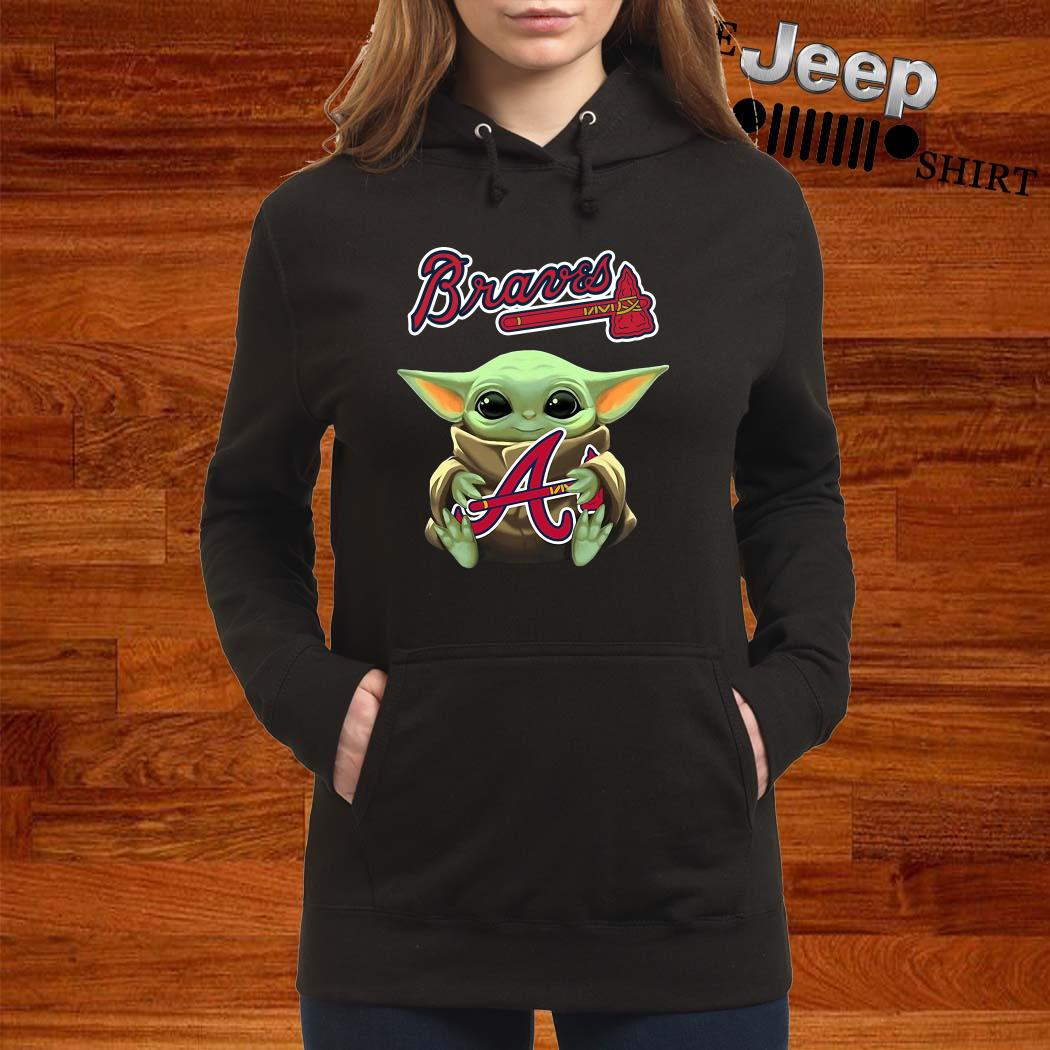 Baby Yoda Hug Atlanta Braves Hoodie